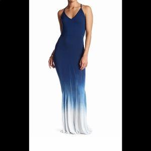 Go Couture long ombré blue dress
